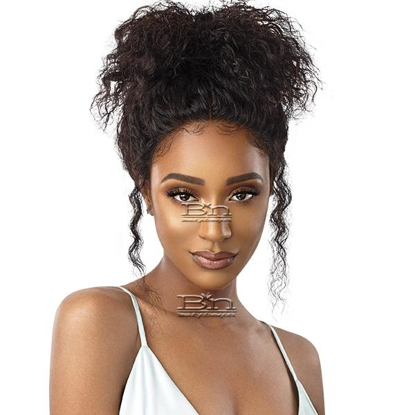 Outre Mytresses Gold Label WET & WAVY 100% Unprocessed Human Hair Lace Front Wig - DEEP WAVE 16-18