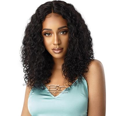 Outre Mytresses Gold Label WET & WAVY 100% Unprocessed Human Hair Lace Front Wig - DEEP WAVE 20-22