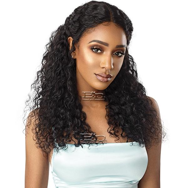 Outre Mytresses Gold Label WET & WAVY 100% Unprocessed Human Hair Lace Front Wig - DEEP WAVE 22-24