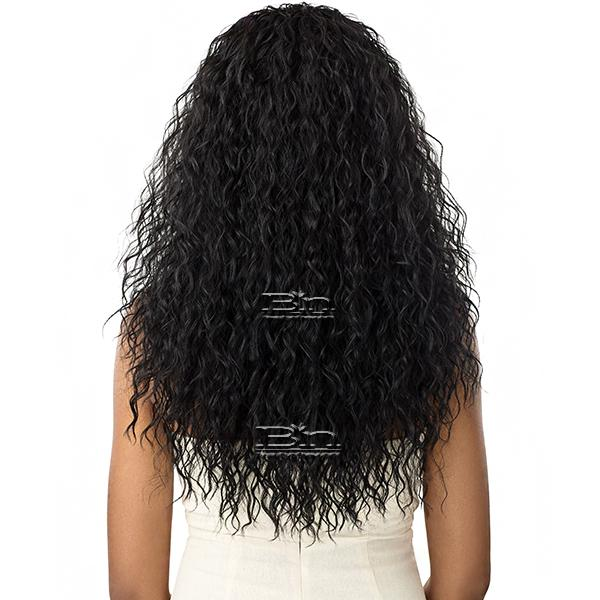 Outre Synthetic Wet & Wavy Style Half Wig Quick Weave - BEACH CURL 24