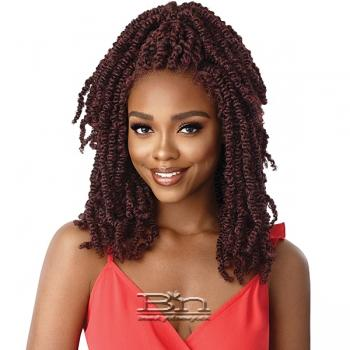 Outre Synthetic Twisted Up 4X4 Braid Lace Wig - WAVY BOMB TWIST 18