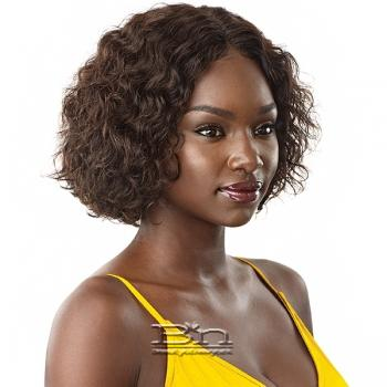 Outre Mytresses Gold Label 100% Unprocessed Human Hair Lace Front Wig - NATURAL JERRY BOB