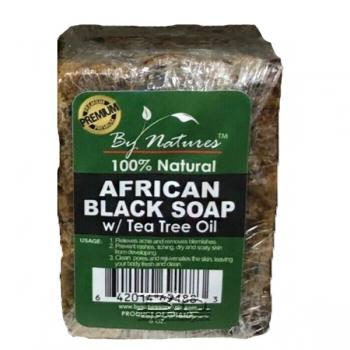 By Natures African Black Soap with Tea Tree Oil 6oz