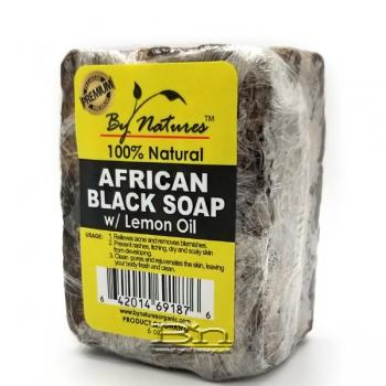 By Natures African Black Soap with Lemon Oil 6oz