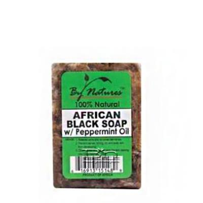 By Natures African Black Soap with Peppermint 6oz
