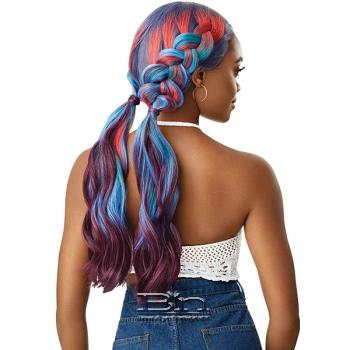 Outre Color Bomb Synthetic Swiss Lace Front Wig - FANTASIA