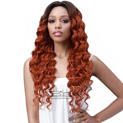 Bobbi Boss Human Hair Blend 13X6 Frontal Lace Wig - MOGLWOC26 OCEAN WAVE 26