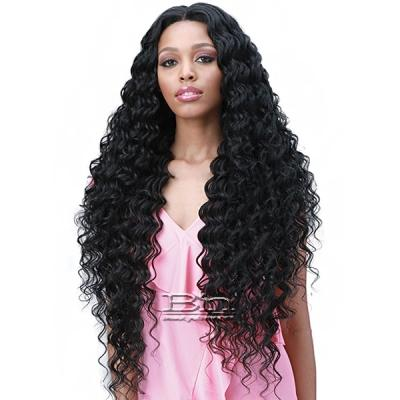 Bobbi Boss Human Hair Blend 13X6 Frontal Lace Wig - MOGLWOC32 OCEAN WAVE 32