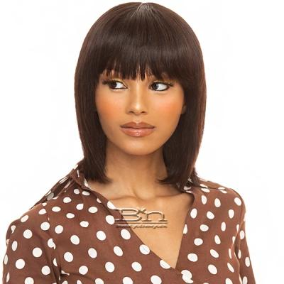 The Wig Black Pink 100% Brazilian Virgin Remy Human Hair Wig - HHBW H1