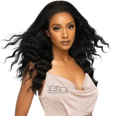 Outre Mytresses Platinum Label 100% Virgin Human Hair 360 HD Full Lace Wig - NATURAL FREE DEEP