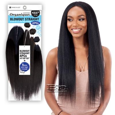 Organique Mastermix Weave - ORGANIQUE BLOWOUT STRAIGHT 4PCS(18/20/22 + 5 deep part lace closure)