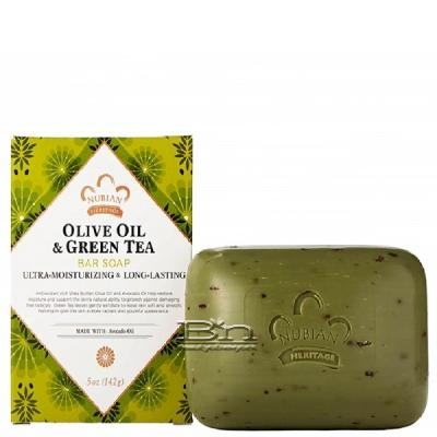 Nubian Heritage Olive Oil & Green Tea Bar Soap 5oz