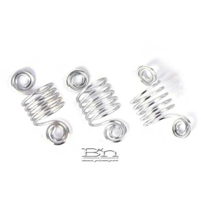 WIGO Collection Hair Accessories Braid Ring - SPIRAL 3PCS (CTG4 - SILVER)