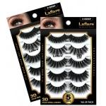 Laflare 3D Faux Mink EyeLashes - 5 Pairs Value Pack