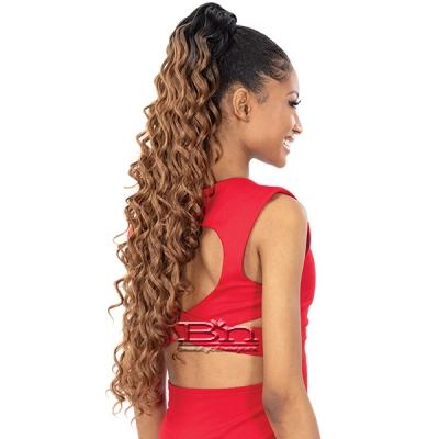 Shake N Go Organique Mastermix Ponytail - DEEP WAVE 28