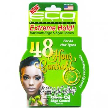 Eco Style 48 Hour Olive Oil Edge Control Gel Play N Stay Extreme Hold 3oz