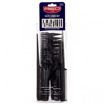 Red By Kiss 10-PC Comb Set #CMB24 BLACK