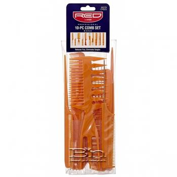 Red By Kiss 10-PC Comb Set #CMB25 BROWN
