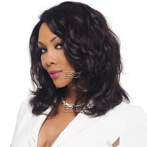 Vivica Fox 100% Brazilian Natural Remy Human Hair Swiss Lace Front Wig - NATURE