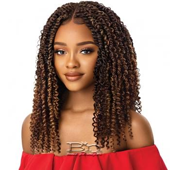 Outre Synthetic Twisted Up 4X4 Braid Lace Wig - KINKY BOHO PASSION WATER WAVE 18