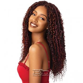 Outre Synthetic Twisted Up 4X4 Braid Lace Wig - BOHO PASSION WATER WAVE 22