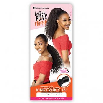 Sensationnel Synthetic Ponytail Instant Pony Wrap - KINKY CURLY 18