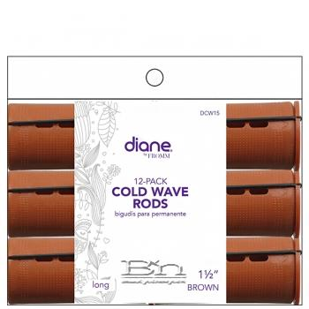 """Diane #DCW15 Jumbo Cold Wave Rods - 1 1/2"""" Long Brown"""