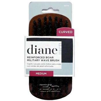 Diane #D8175 Reinforced Boar Military Wave Brush Medium Curved