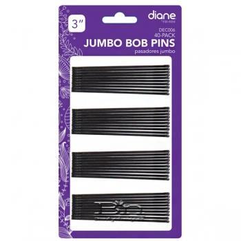 "Diane #DEC006 Extra Large Bobby Pins 40 Count - 3"" Black"