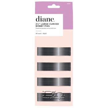 "Diane #D428 Large Curved Bobby Pins 40 Count - 2 1/2"" Black"