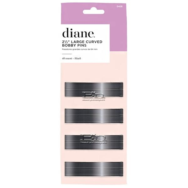 """Diane #D428 Large Curved Bobby Pins 40 Count - 2 1/2"""" Black"""