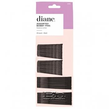 Diane #D463 Assorted Bobby Pins 50 Count - Black