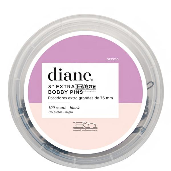 """Diane #D417 Large Curved Bobby Pins 80 Count Bin - 2 1/2"""" Black"""