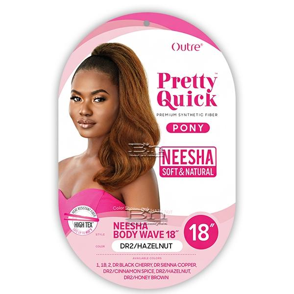 Outre Synthetic Pretty Quick Pony - NEESHA BODY WAVE 18