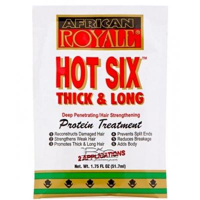 African Royale Hot Six Thick & Long Protein Treatment 1.75oz