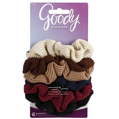 Goody #24861 Ouchless Waffle Hair Ponytailer 6 pcs