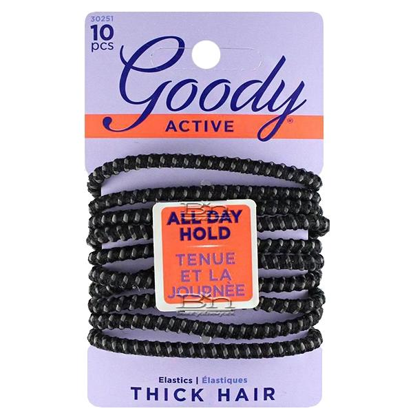 Goody #30251 Active All Day Hold Thick Hair Elastic 10 pcs