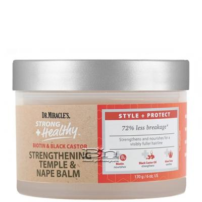 Dr. Miracles Strong + Healthy Biotin & Black Caster Strengthening Temple & Nape Balm 6oz