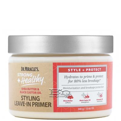 Dr. Miracles Strong + Healthy Shea Butter & Black Castor Oil Styling Leave-In Primer 12oz