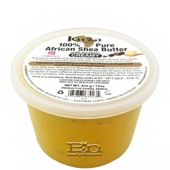 Kuza 100% African Shea Butter with Borututu Yellow Creamy 15oz