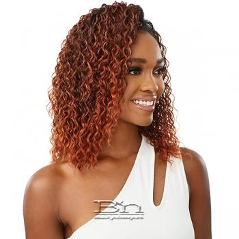 Outre Synthetic Wet & Wavy Style Half Wig Quick Weave - DEEP CURL 14