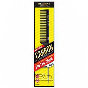 """Black Ice #CCO103 Carbon Pin Tail Comb 9"""""""