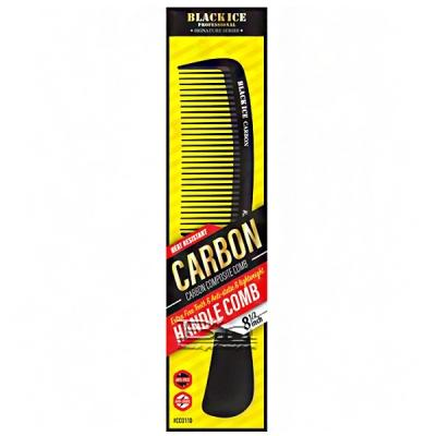 Black Ice #CCO110 Carbon Handle Fine Tooth Comb 8.5