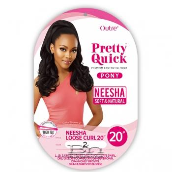 Outre Synthetic Pretty Quick Pony - NEESHA LOOSE CURL 20