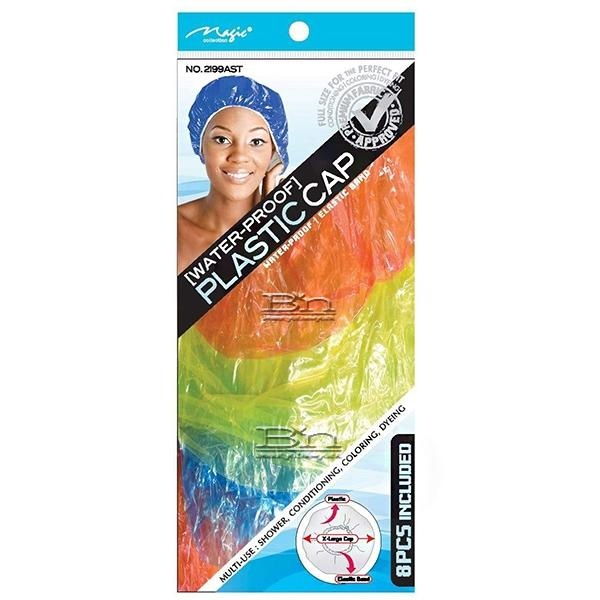 Magic Collection #2199AST Water Proof Plastic Cap 8pcs -Assorted