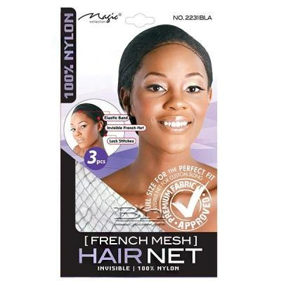 Magic Collection #2231BLA French Mesh Hair Net 3pcs
