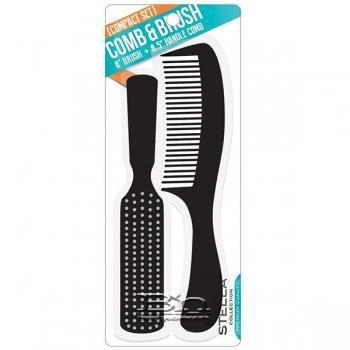 """Stella Collection #2443AST 8"""" Brush & 7"""" Styling Comb Compact Set"""
