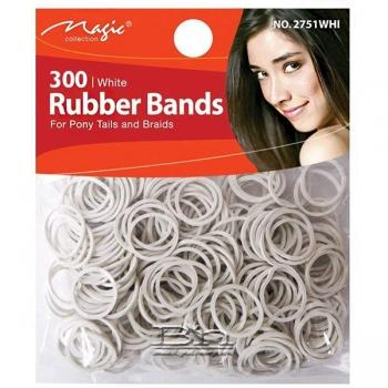 Magic Collection #2751WHI Rubber Band 300pc White