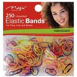 Magic Collection #332AST 250pc Elastic Bands Assorted