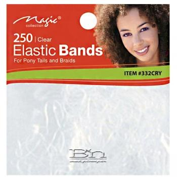 Magic Collection #332CRY 250pc Elastic Bands Clear